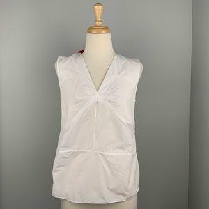 Marni Women's Sleeveless V-Neck Back Bow Blouse